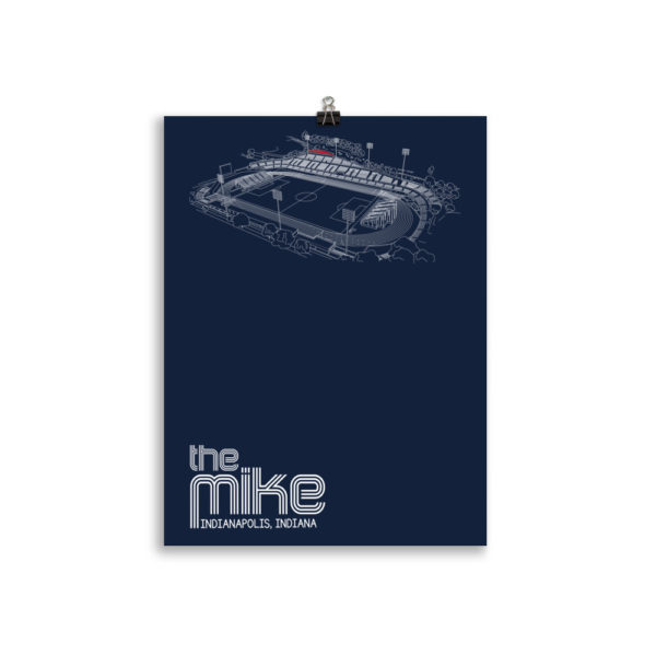 navy Indy Eleven poster of the Mike
