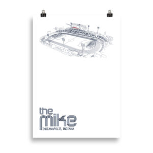 Large Indy Eleven poster of the Mike