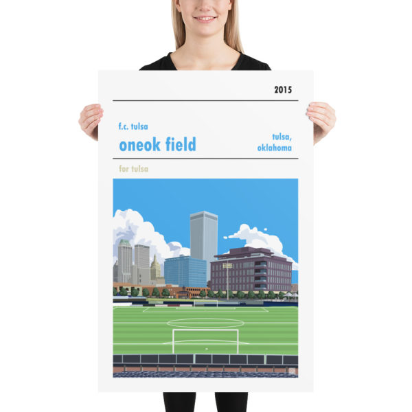 Quality ONEOK Field and FC Tulsa football poster