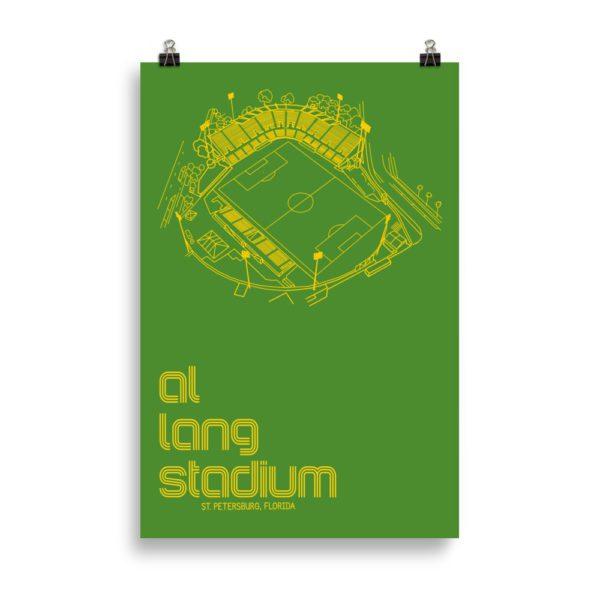 Huge green Al Lang Stadium and Tampa Bay Rowdies Soccer Poster