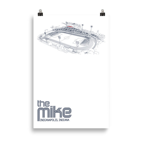 Huge Indy Eleven poster of the Mike