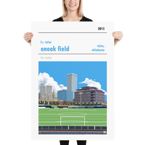 ONEOK Field and FC Tulsa football poster