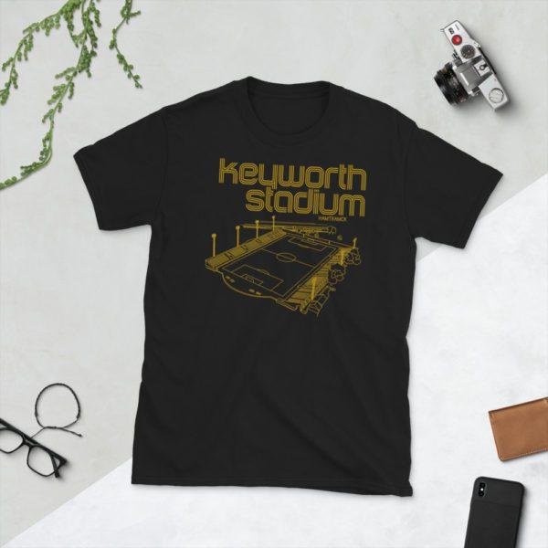 Black and Gold Keyworth Stadium and Detroit City FC t-shirt