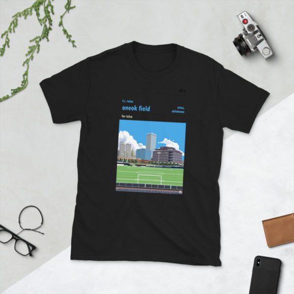 Black ONEOK Field and FC Tulsa t-shirt