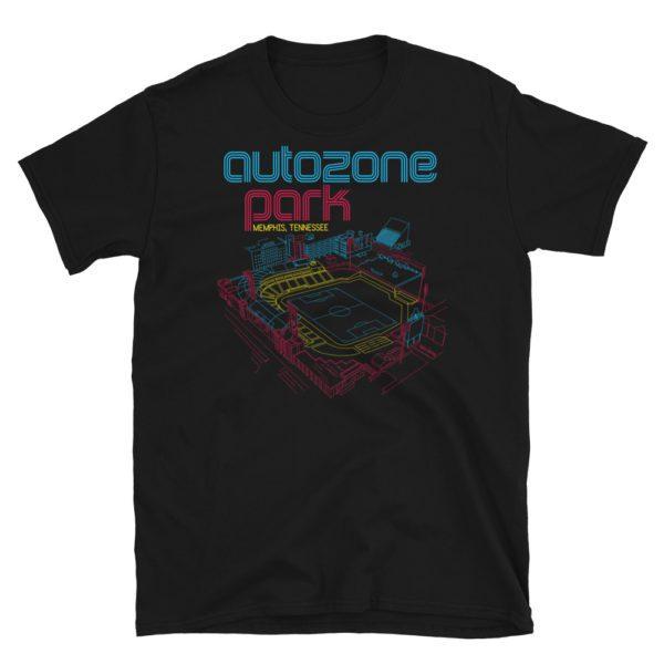 AutoZone Park and Memphis 901 FC T-Shirt