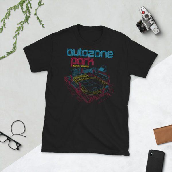 Black AutoZone Park and Memphis 901 FC T-Shirt