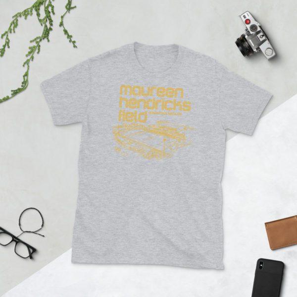 Gray Maureen Hendricks Field and Maryland Bobcats T-Shirt