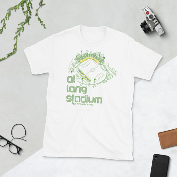 White Al Lang Stadium and Tampa Bay Rowdies T-Shirt