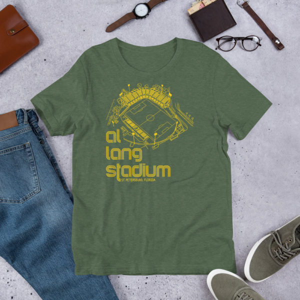 Forest and yellow Tampa Bay Rowdies Fine Line T-Shirt
