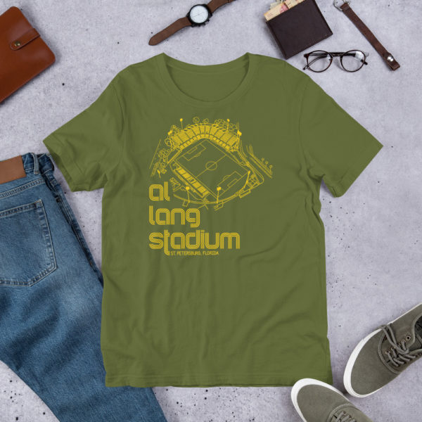 Heather and yellow Tampa Bay Rowdies Fine Line T-Shirt