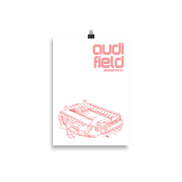 Small Audi Field and DC United soccer poster
