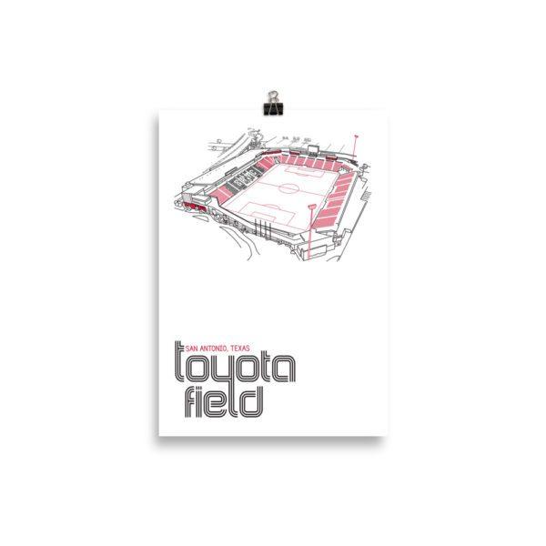 Small San Antonio FC and Toyota Field Soccer Print