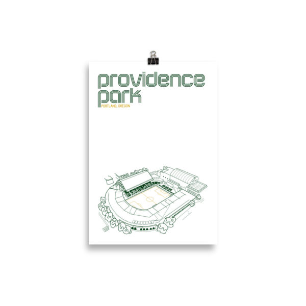 Small Providence Park and Portland Timbers Soccer print