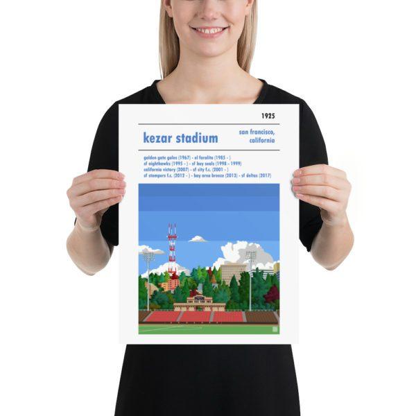 San Francisco City and Kezar Stadium soccer Poster
