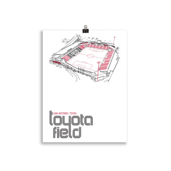 San Antonio FC and Toyota Field Soccer Print
