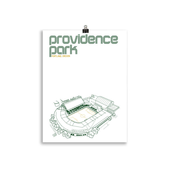 Medium Providence Park and Portland Timbers Soccer print
