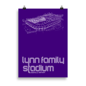 Large Lynn Family Stadium and Louisville City SC poster