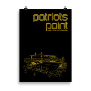 Large Charleston Battery and Patriots Point soccer print