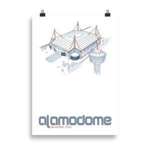 Large Alamodome and UTSA Roadrunners print