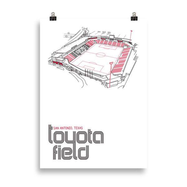 Large San Antonio FC and Toyota Field Soccer Print