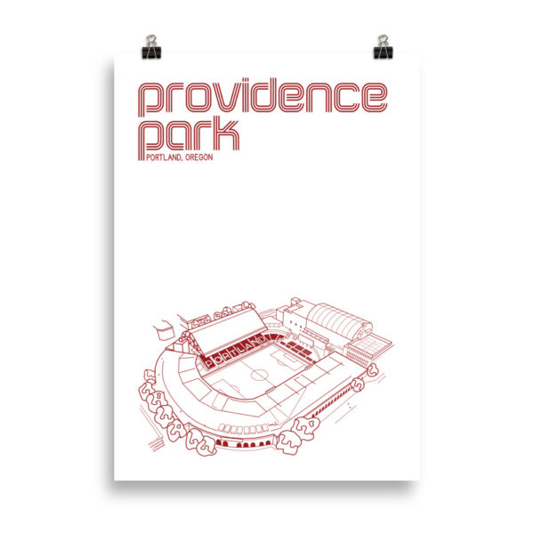 Large Providence Park and Portland Thorns Soccer print