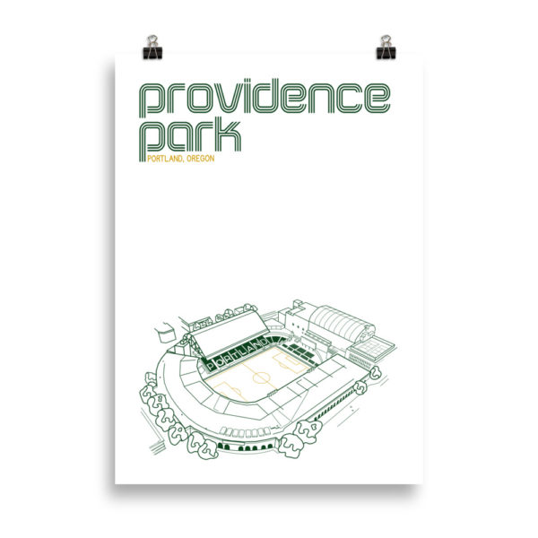 Large Providence Park and Portland Timbers Soccer print