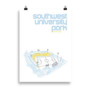 Large Southwest University Park and El Paso Locomotive Print
