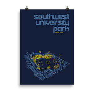 Large El Paso Locomotive and Southwest University Park Print