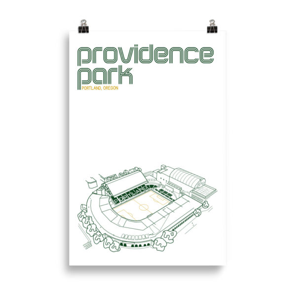 Huge Providence Park and Portland Timbers Soccer print