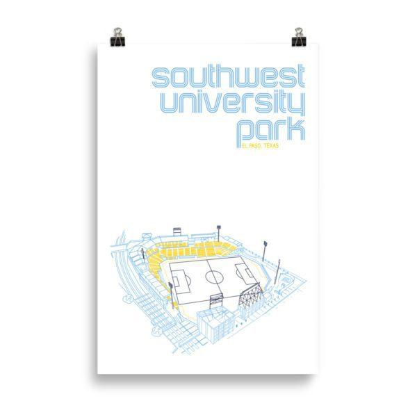 Huge Southwest University Park and El Paso Locomotive Print
