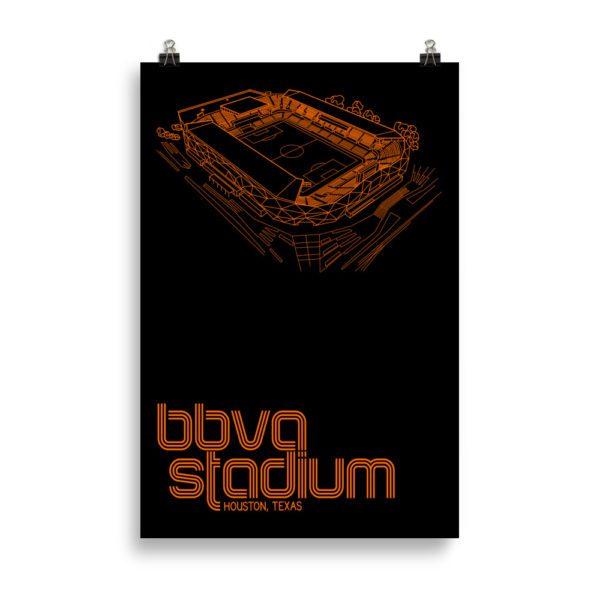 Huge BBVA Stadium and Houston Dynamo and Dash soccer print