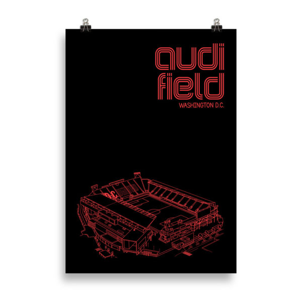Massive Audi Field and DC United soccer poster