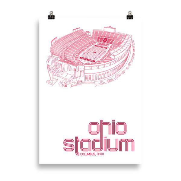Massive Ohio Stadium and Buckeyes Poster