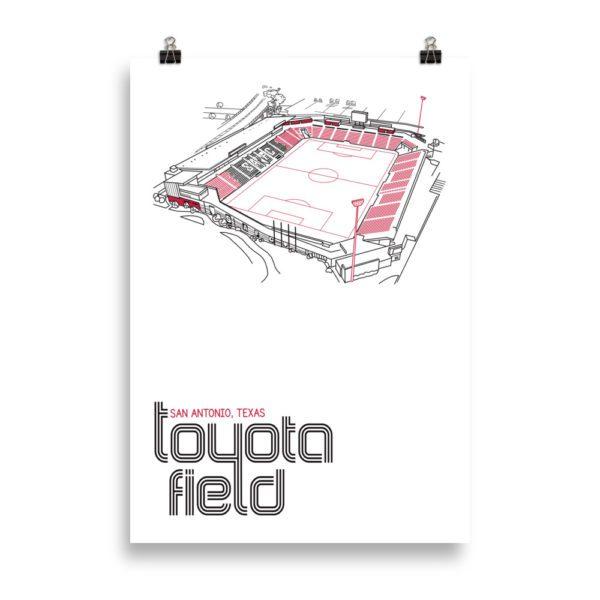 Massive San Antonio FC and Toyota Field Soccer Print