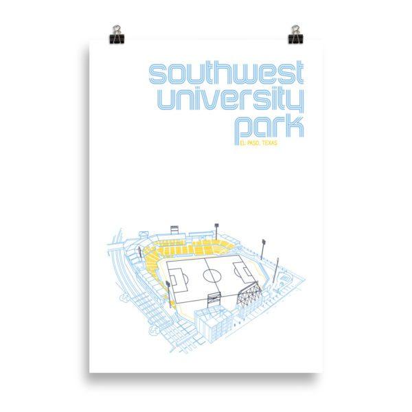 Massive Southwest University Park and El Paso Locomotive Print
