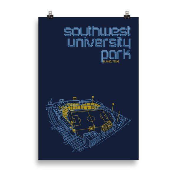 Massive El Paso Locomotive and Southwest University Park Print