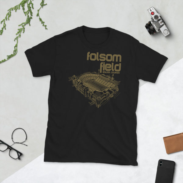 Black Folsom Field and Colorado Buffaloes T-Shirt