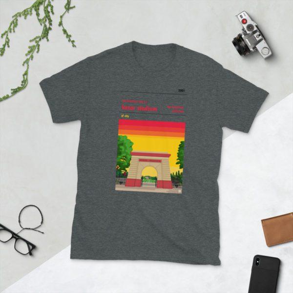 Dark grey San Francisco City and Kezar Stadium T-Shirt