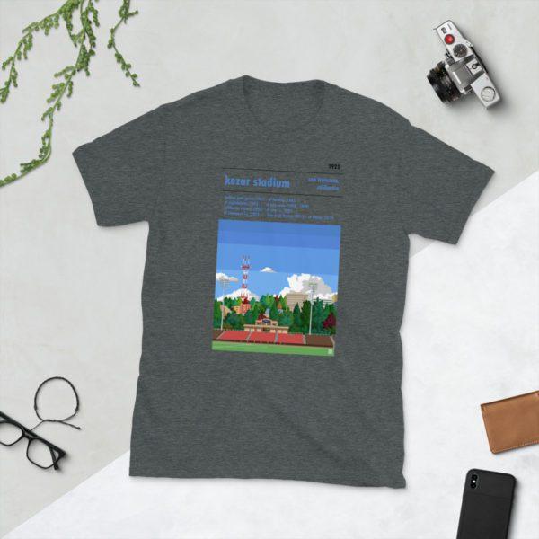 Dark gray San Francisco City and Kezar Stadium T-Shirt