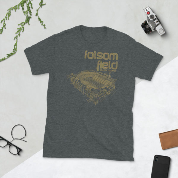 Dark gray Folsom Field and Colorado Buffaloes T-Shirt