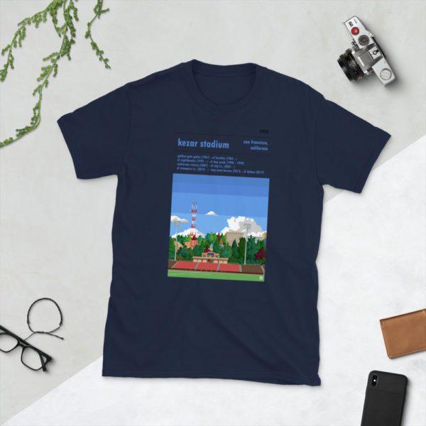 Navy San Francisco City and Kezar Stadium T-Shirt