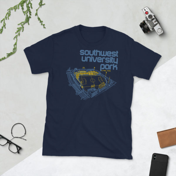 Navy El Paso Locomotive and Southwest University Park T-Shirt