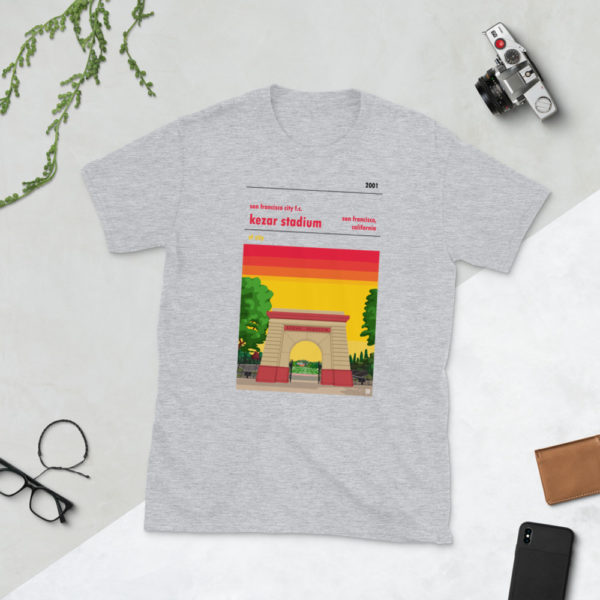 Gray San Francisco City and Kezar Stadium T-Shirt