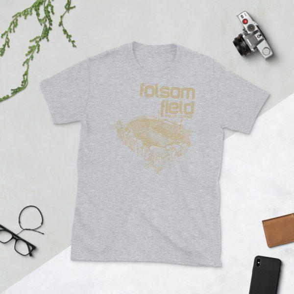 Gray Folsom Field and Colorado Buffaloes T-Shirt