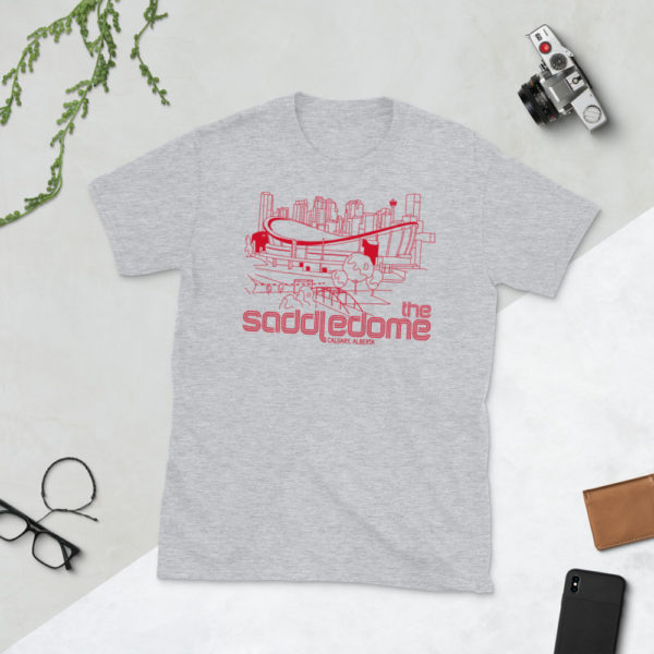 Gray Saddledome and Calgary Flames T-Shirt