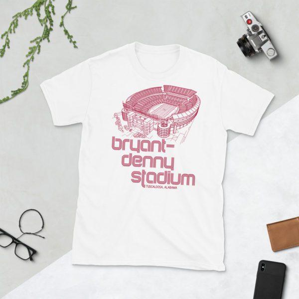 White Bryant-Denny Stadium and Alabama Crimson Tide T-Shirt