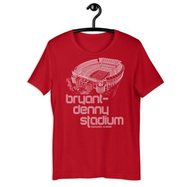 Red Bryant-Denny Stadium and Alabama Crimson Tide T-Shirt