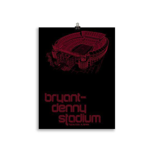 Crimson Tide and Bryant-Denny Stadium print