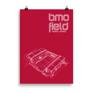 Large BMO Field soccer poster