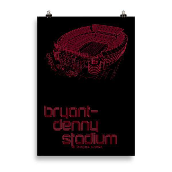 Massive Crimson Tide and Bryant-Denny Stadium print